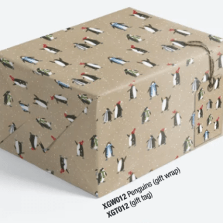 Penguins gift wrap