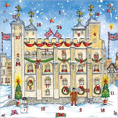 Tower of London Advent Calendar Card