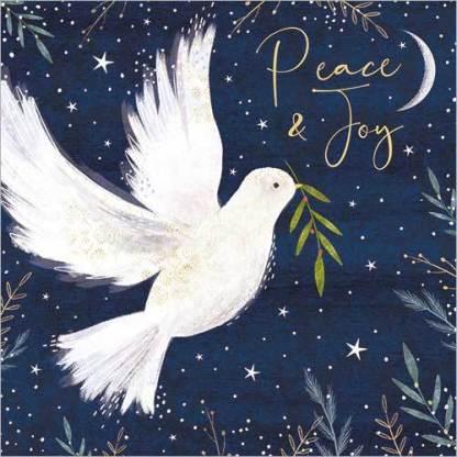 Dove Peace and Joy Christmas Cards