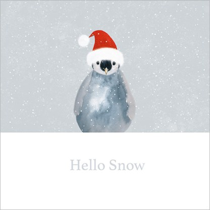 Hello Snow Baby Penguin Christmas Cards
