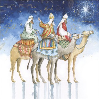 Three Wise Men Camels Christmas Cards
