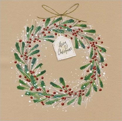 Christmas Berry Wreath Christmas Cards