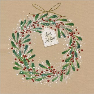 Christmas Berry Wreath Christmas Cards