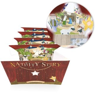 Nativity Story Peep Show Card