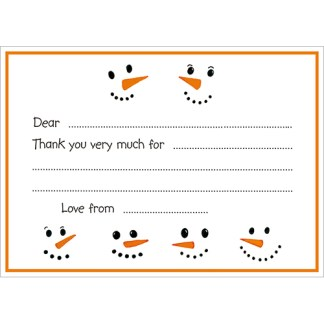 Frosty Thank You Notecards