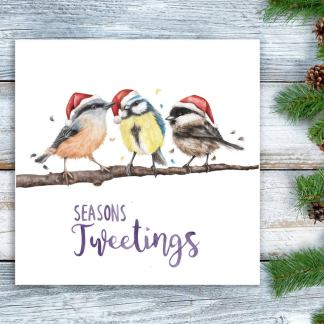 Seasons Tweetings Christmas card