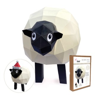 sheep papercraft kit