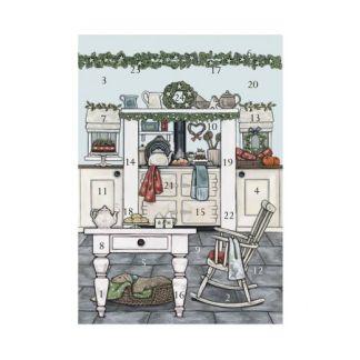 Christmas Kitchen advent calendar card