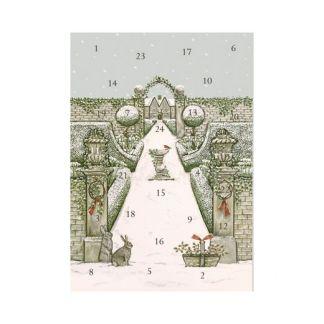 Winter Garden advent calendar card