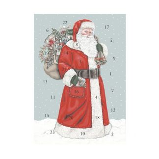 Father Christmas advent calendar card