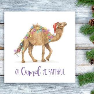 O Camel all ye Faithful Christmas card