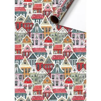 Winter Houses Roll Wrap 2m