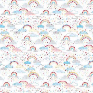 Rainbow clouds gift wrap