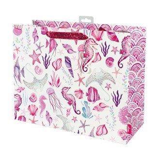 Sea Shells Pink Carrier Gift Bag