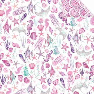 Sea Shells pink gift wrap
