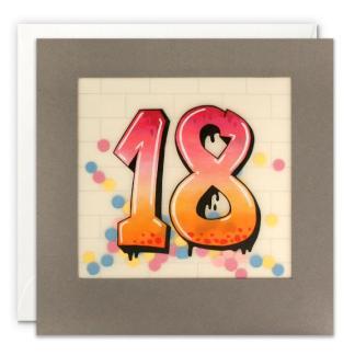 Age 18 Graffiti Shakies Card