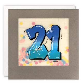 Age 21 Graffiti Shakies Card