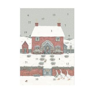Christmas Cottage advent calendar card