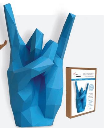 Rock hand papercraft kit