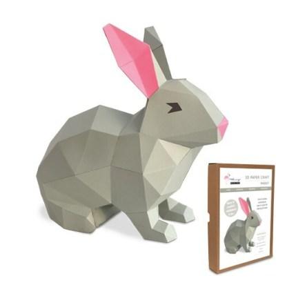 Rabbit papercraft kit