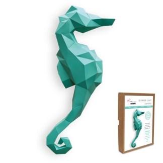 Seahorse papercraft kit