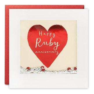 Ruby Anniversary Shakies Card