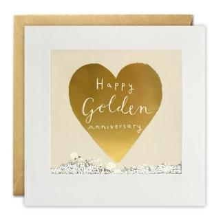 Golden Anniversary Foiled Shakies Card