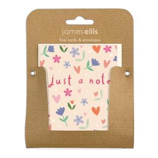 Just a Note Flower and Heart notelets