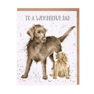 'Wonderful Dad' dog card