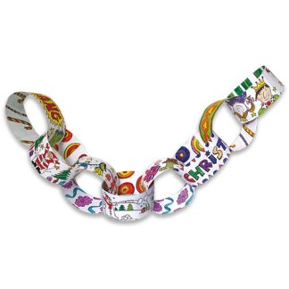 Colour in Giant Christmas Paper Chains