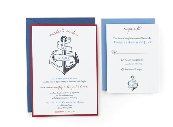 Wedding Invitation Template Blue Erflies