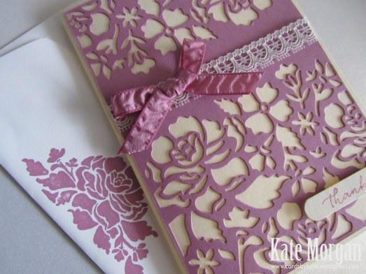 Floral Phrases, Detailed Floral Thinlits, #stampinup, Thank you, 2016, #stampinupaustralia, Feminine Handmade Card, DIY, Sweet Sugarplum