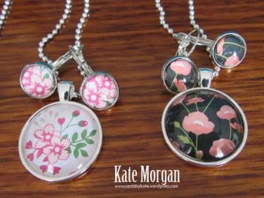 Designer Costume Jewellery Floral Necklaces #stampinup, @cardsbykate DIY