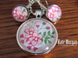 Love Blossoms Designer Costume Jewellery Necklace, #stampinup DIY @cardsbykate