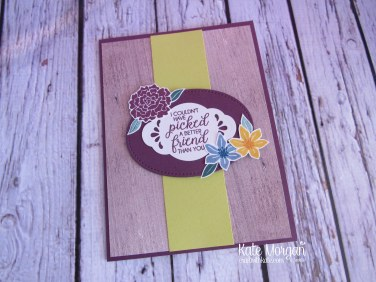 Beautiful Bouquet stamp set, Wood Textures DSP, Pretty Label punch, Lovely Laurel thinlits, Stitched Shapes thinlits by Kate Morgan, Independent Stampin Up Demonstrator Australia