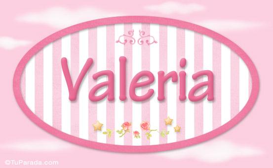 Valeria Nombre Decorativo Nias Nombres Imgenes