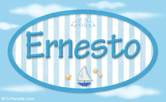 Ernesto Nombre De Beb Para Imprimir Nios Nombres