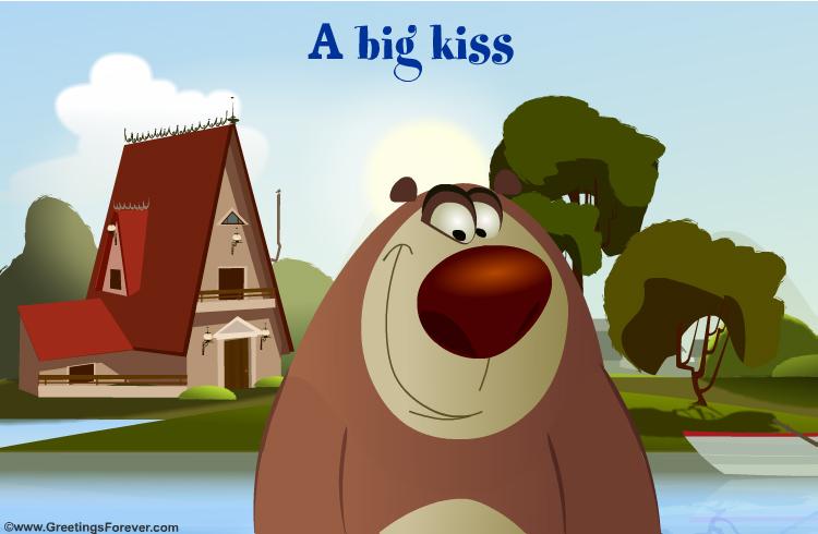 A Big Kiss Ecard Hugs And Kisses Ecards