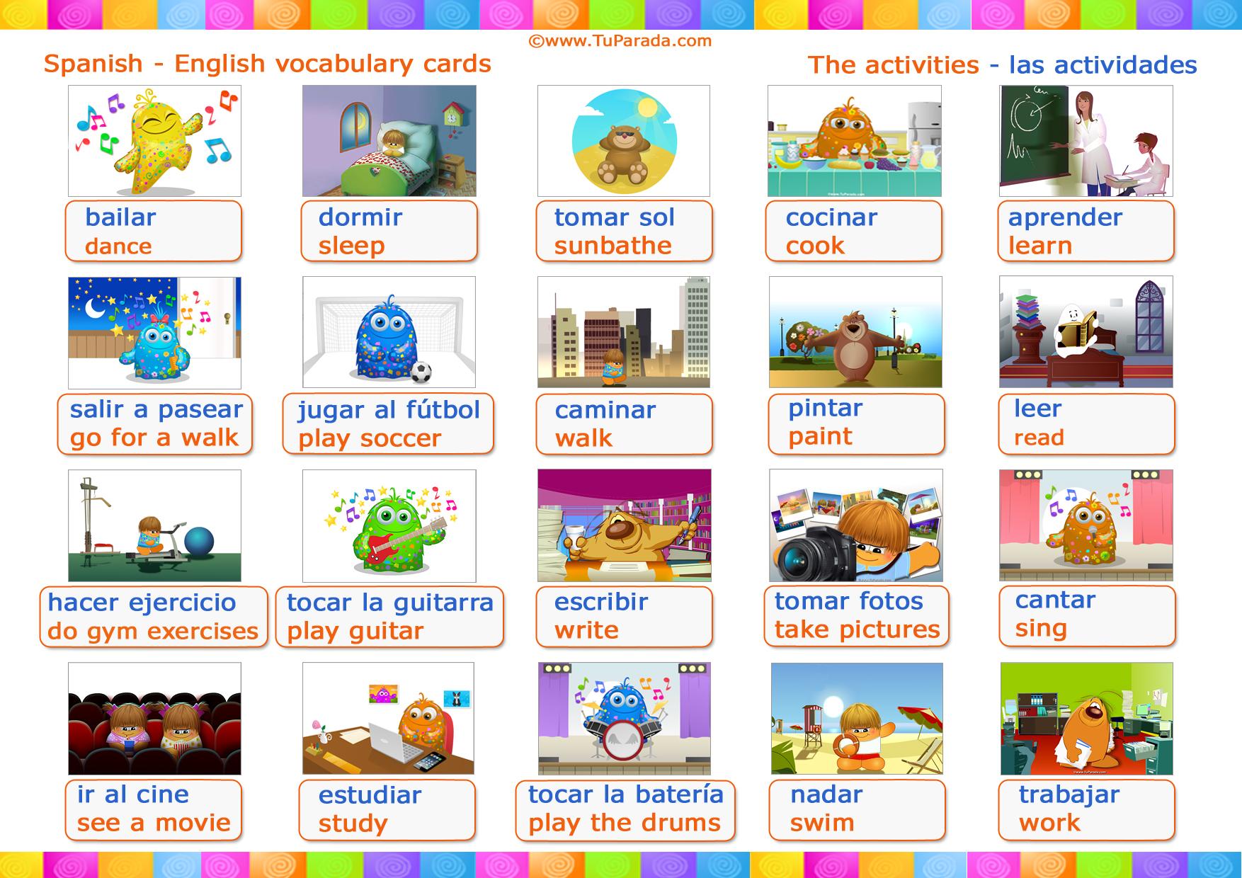 Vocabulario Actividades