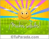 Postales De Hola Saludos Y Buen Da Tarjetas De Hola