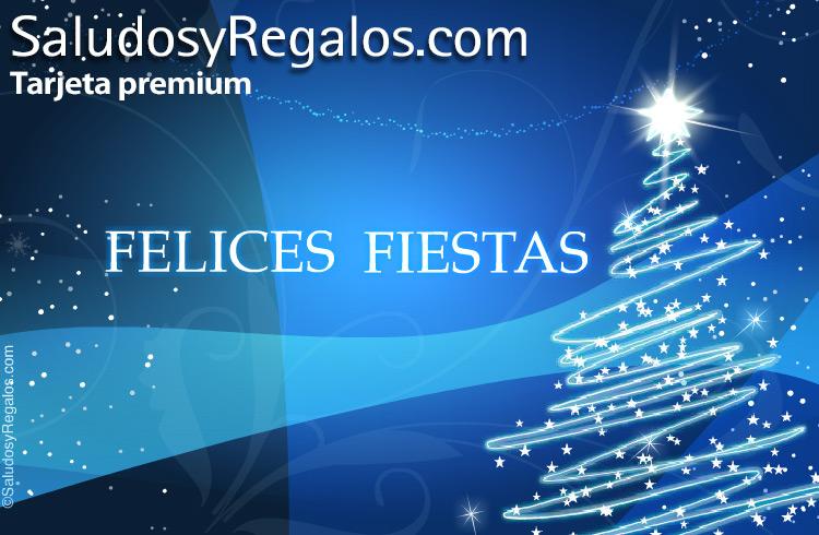 Felices Fiestas Azul Navidad Y Felices Fiestas Tarjeta