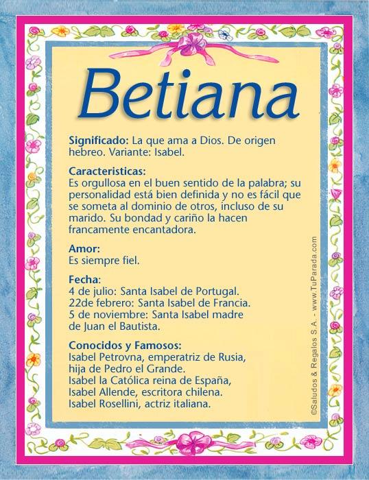 Betiana B Tarjetas