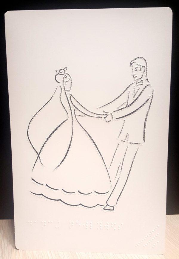 Dancing Wedding Card Outside