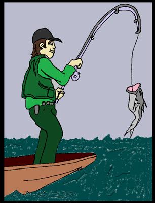 Fisherman Birthday Card