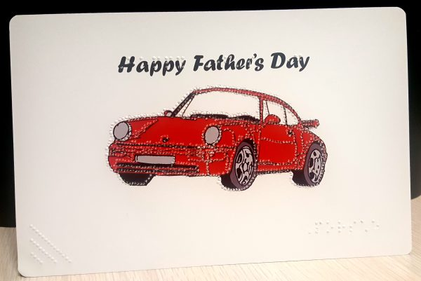 Father's Day Porsche Card Outside