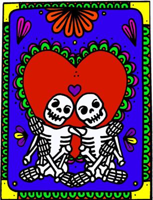 Dia de los Muertos Halloween Card