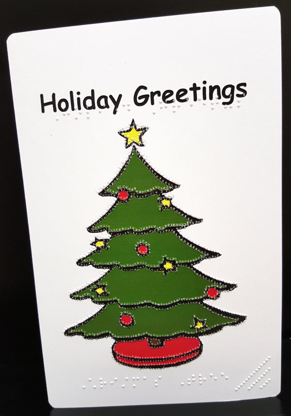 Christmas Tree Card Outside