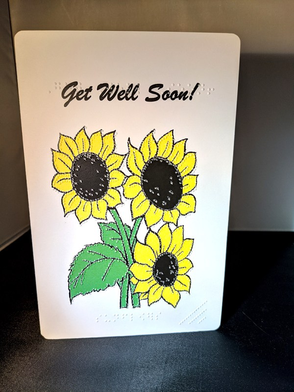 Sunflowers Get Well Soon Card Outside