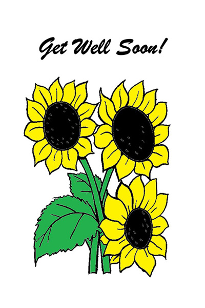 Get Well Sunflower