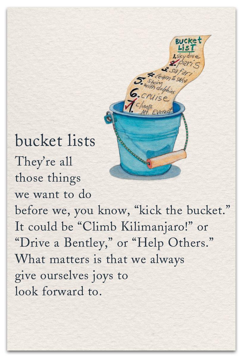 Bucket List Birthday Card